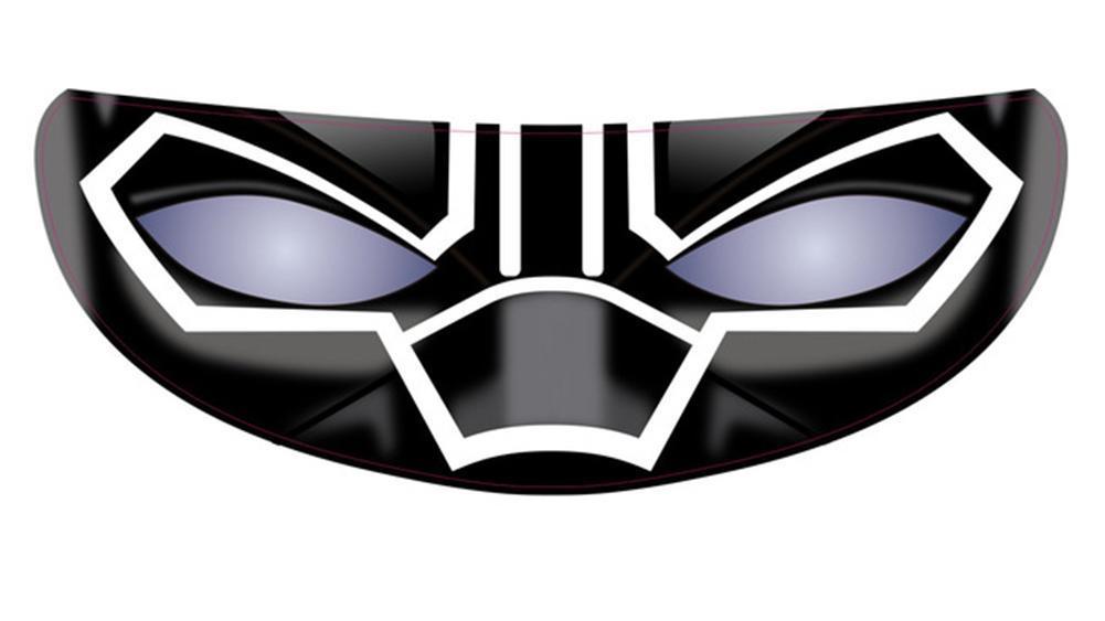 Visier-Sticker 3D Gesicht für Motorradhelm