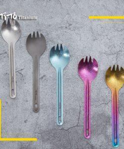 farbiges Titan Campingbesteck