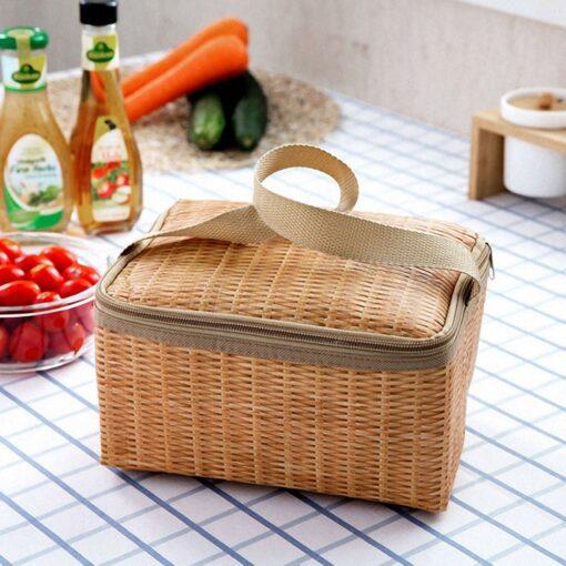 Rattan Picknickkorb Thermobox