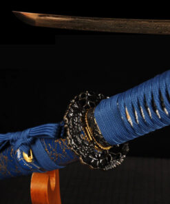 Katana mit goldener Damast Klinge