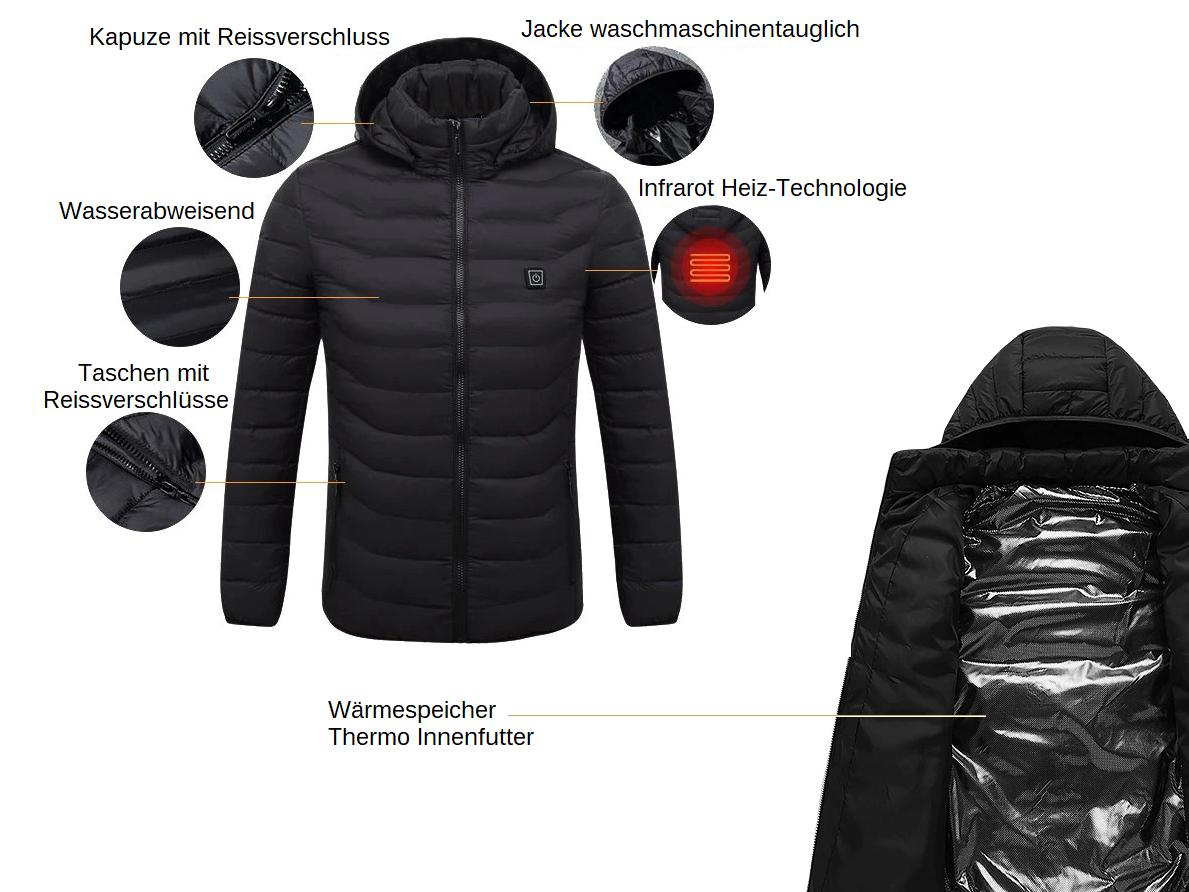 beheizbare Thermo Winterjacke kaufen Schweiz