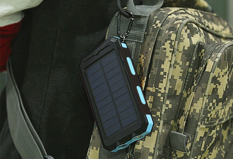 Solar-Powerbank mit LED
