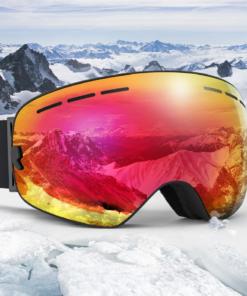 Skibrille über echten Brille tragen
