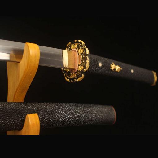 Gold Damast Stahl Katana Schwert
